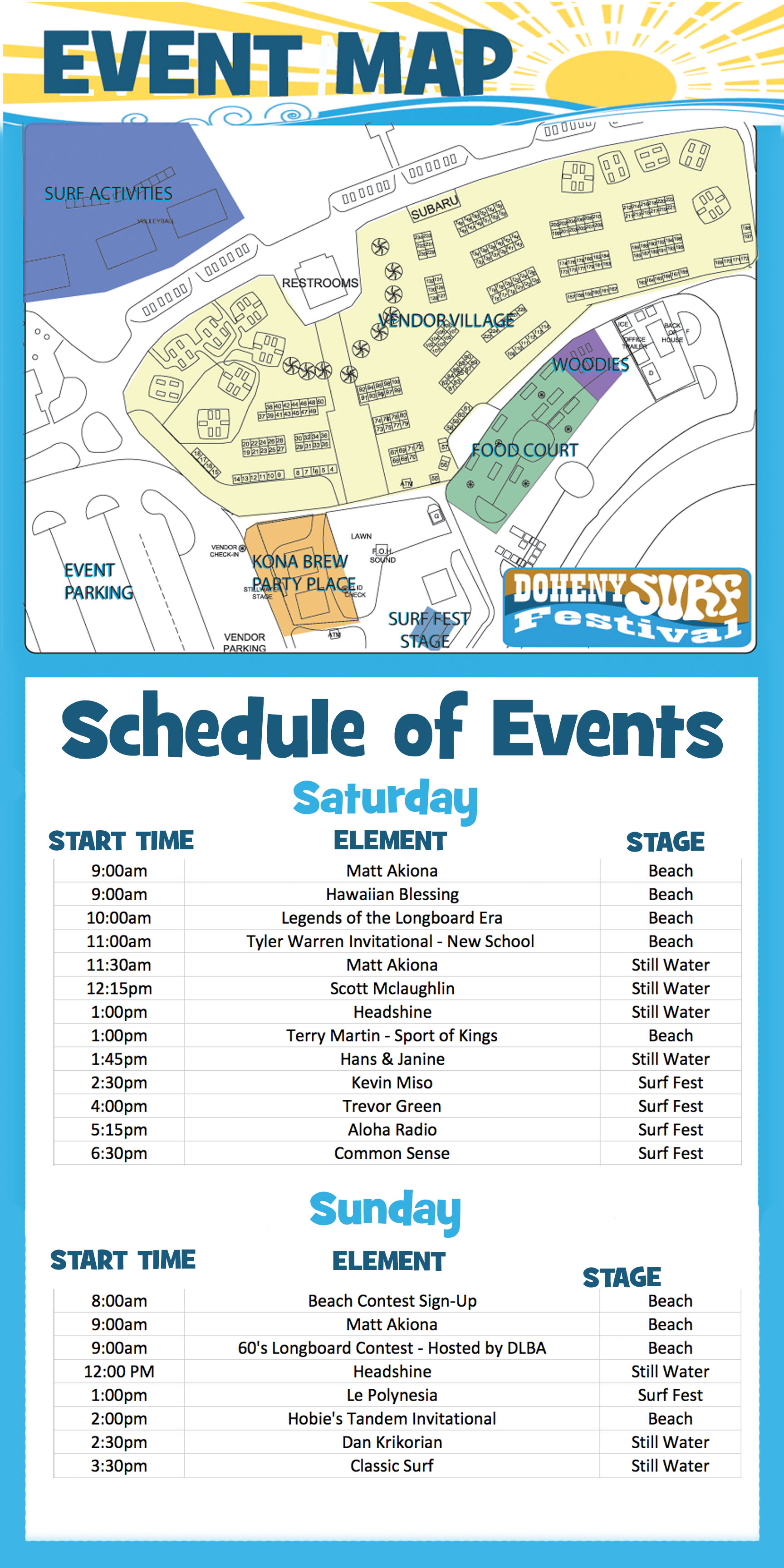 DSF 2013 Map and Schedule